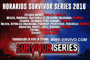 WWE Survivor Series 2016 En Vivo